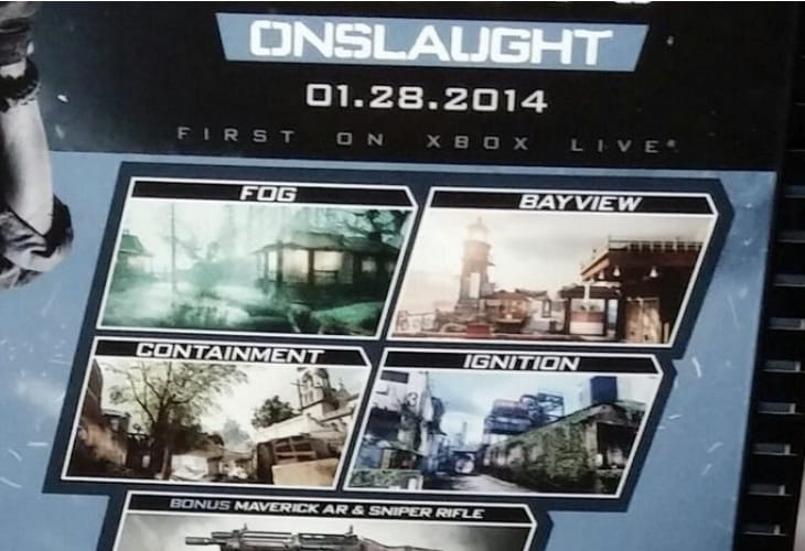 COD Ghosts Onslaught DLC release date close