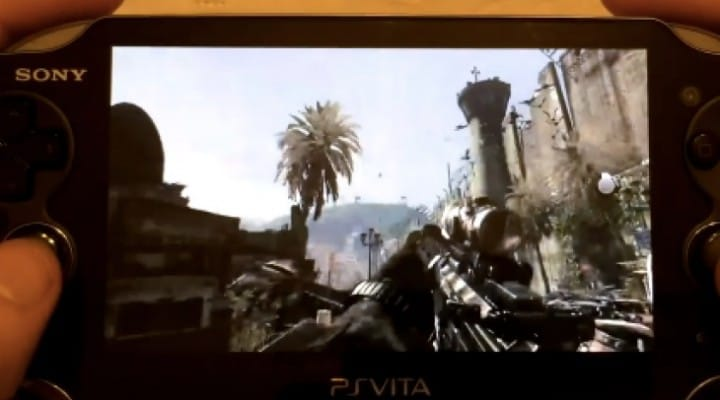 COD Ghosts PS4 gameplay on PS Vita in 1080p
