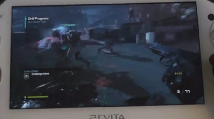 PS Vita Remote Play online test with COD Ghosts