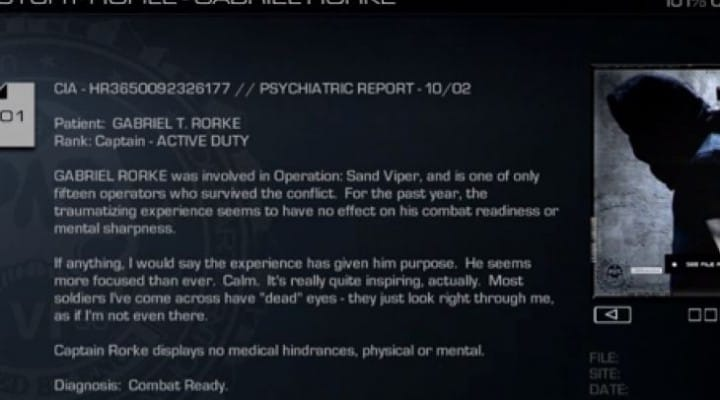 COD Ghosts Rorke Files playback with secret