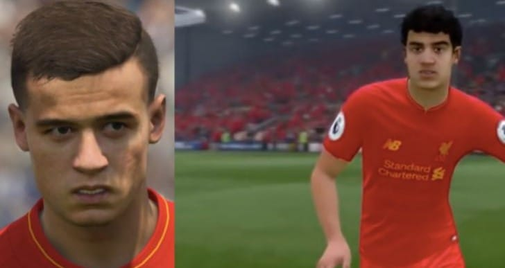 Coutinho FIFA 17 hair update after PES 2017 shame