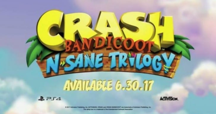 Crash Bandicoot N.Sane Trilogy on Xbox One, Nintendo Switch