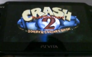 Crash Bandicoot on PS Vita early