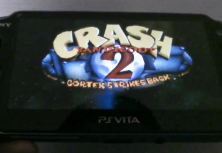 Crash Bandicoot on PS Vita early
