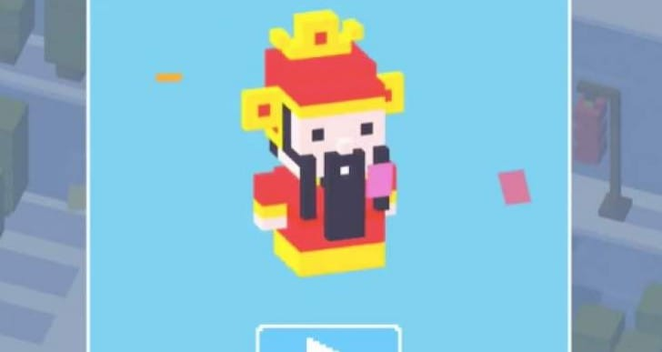 Unlock Cai Shen in Crossy Road after 1.1.19 update