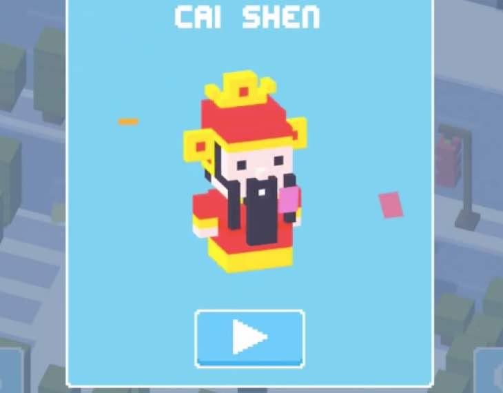 Unlock Cai Shen in Crossy Road after 1.1.19 update