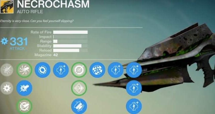 Crux of Crota drop rate for Necrochasm in Destiny