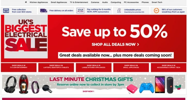 Boxing Day sales now LIVE for Currys, Tesco