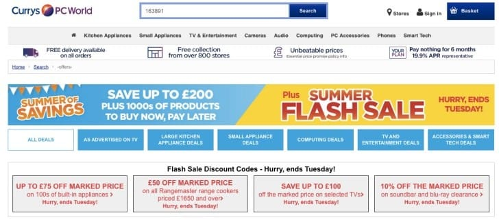 Currys Flash Summer sale for 4K TVs, Soundbars
