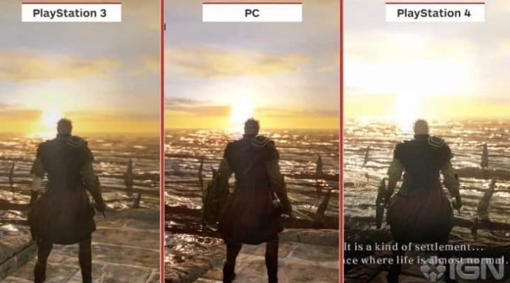 Dark Souls 2 PS4 Vs PC graphics without DirectX 11