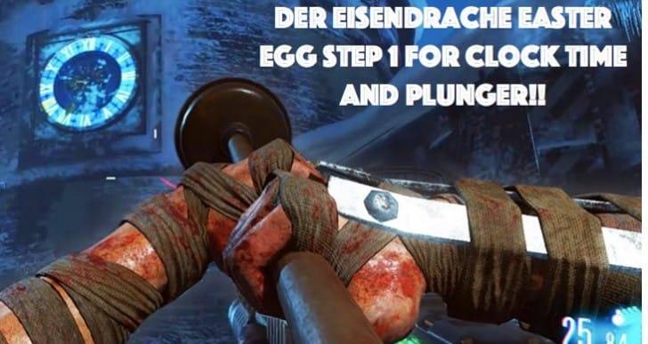 Der Eisendrache Easter Egg Step 1 for Clock time, Plunger