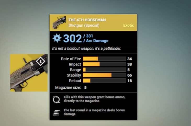 destiny-4th-horseman-exotic-shotgun-stats