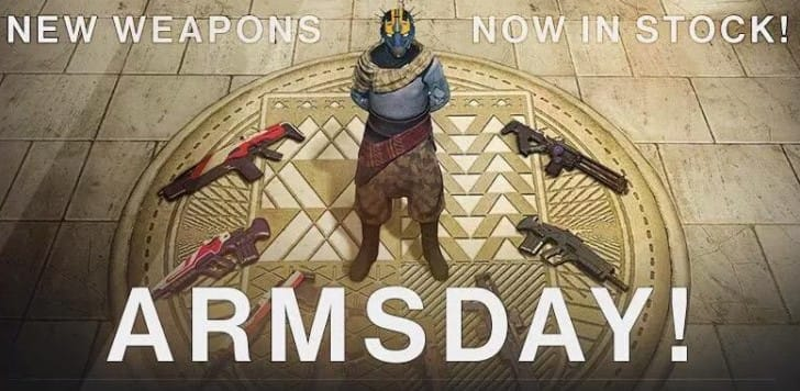 Destiny Armsday Order weapons list for Sept 30