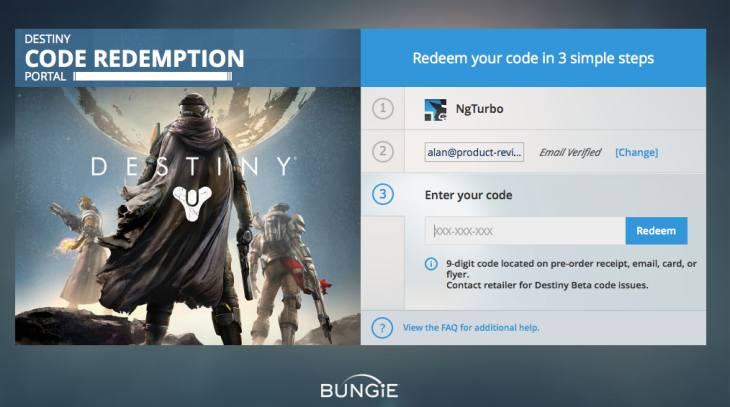 Destiny beta redeem code for PS4, Xbox One live - Product ...