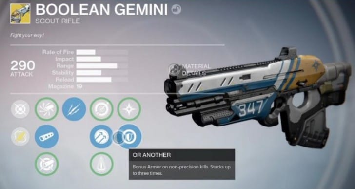 Easy Destiny Boolean Gemini exotic quest steps