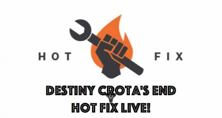 New Destiny Hotfix update notes in full