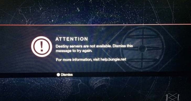 Destiny servers impacted by PSN non-maintenance