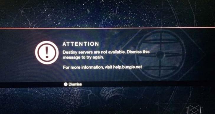 Destiny servers impacted by PSN non-maintenance