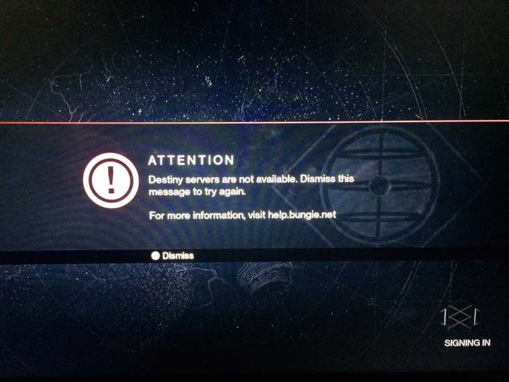 Destiny servers go down before Iron Banner