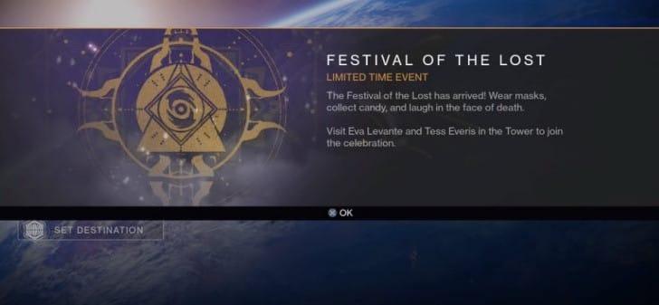 Destiny Halloween Masks update with quest event
