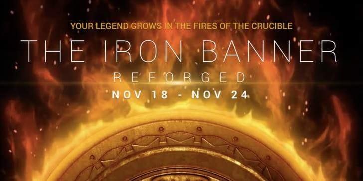 Destiny Iron Banner start time for November 18 to 24