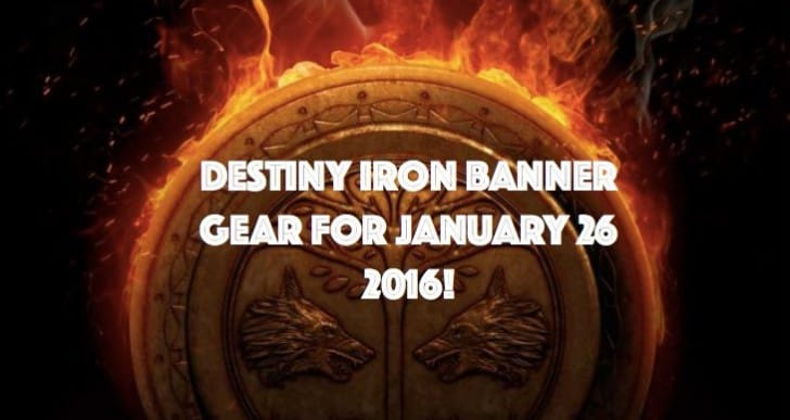 Destiny Iron Banner Rift gear list for January 26