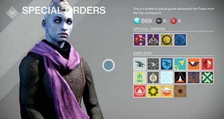Destiny Eververse Trading Company for Emotes
