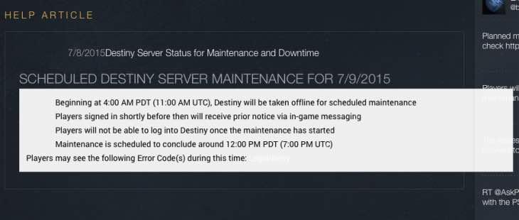 destiny-servers-down-july-9