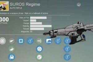 Destiny Xur exotic armor, items with Suros Regime
