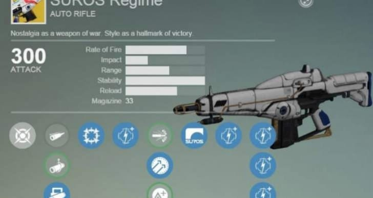 Destiny Xur exotic armor, items with Suros Regime