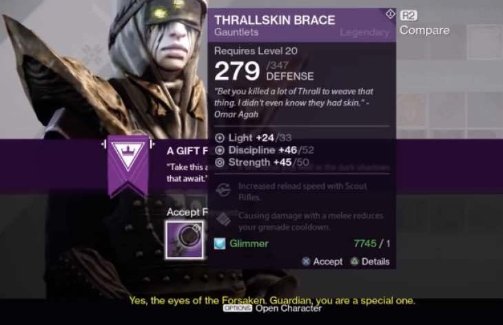 Destiny Ritual of the Forsaken reward disappointment | Product ...