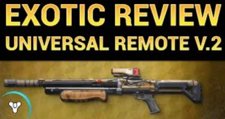 Destiny Universal Remote Exotic Shotgun review