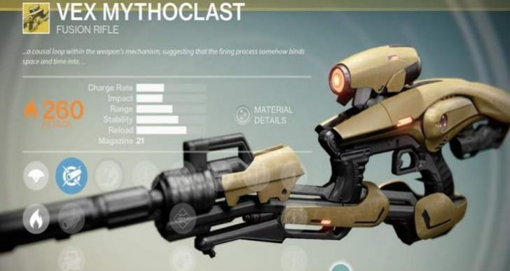 Destiny update 1.0.3 patch notes soon with Vex Mythoclast fix
