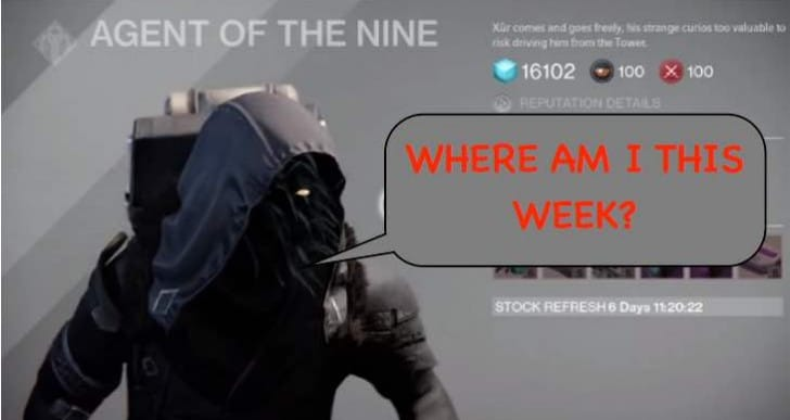 Destiny Xur location sprint for December 5 to 7