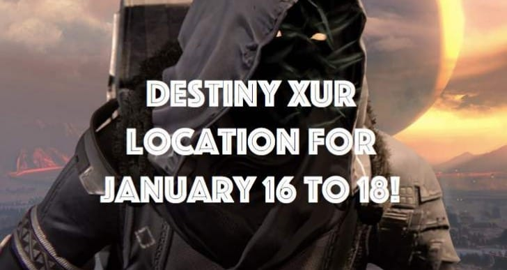 Destiny Xur location desperation for January 16 to 18