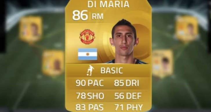 Di Maria 7′s Man Utd Squad Builder in FIFA 14