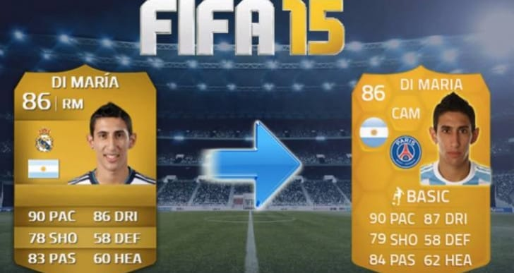 Di Maria PSG card transferred to FIFA 15