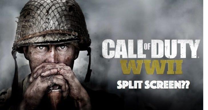 Call of Duty WW2 Split Screen for 4 players offline, 2 online