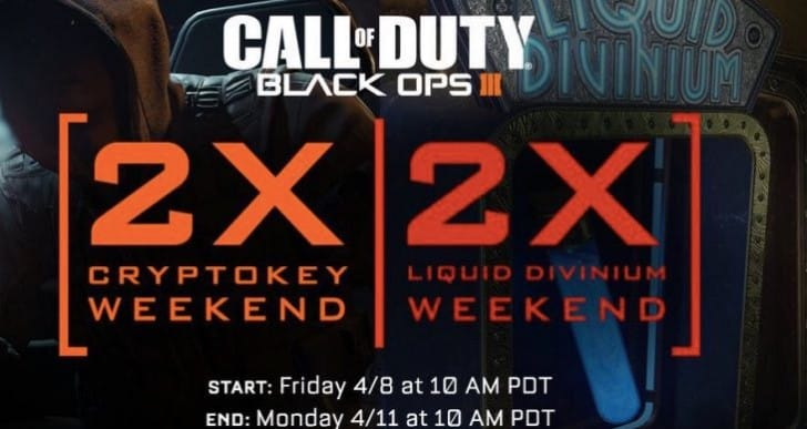 Black Ops 3 Double XP weekend time with April 8 twist