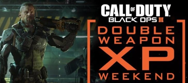 BO3 Double XP Weekend May 13-16, free on PC