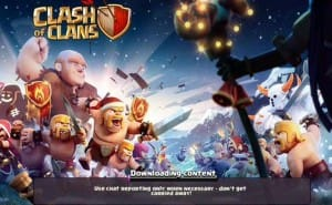 Clash of Clans stuck at loading screen, fix for problem fails