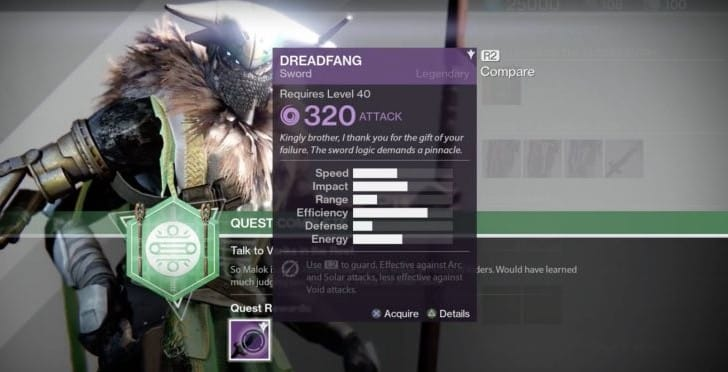 Get Dreadfang Taken sword easily in Destiny
