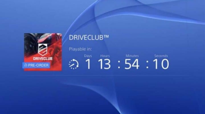 DriveClub PS4 pre-load live in US