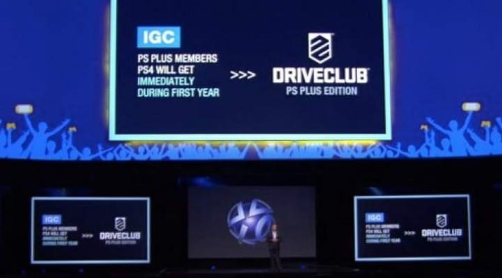 Driveclub PS Plus release time setback