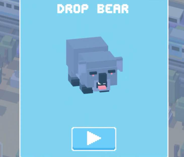 drop-bear-unlock-crossy-road