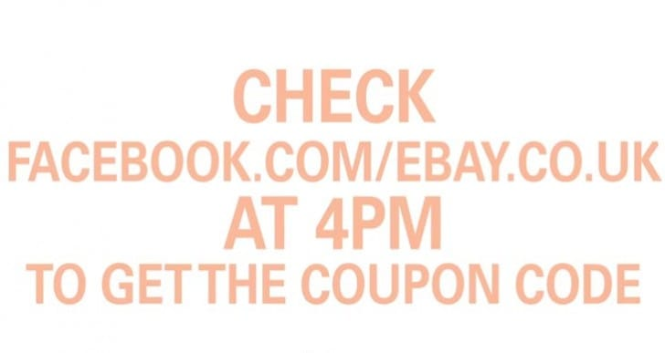 eBay entices UK with 20 percent off everything coupon