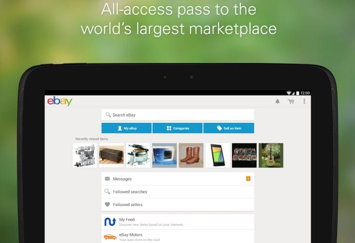 eBay app new Android update Vs old look