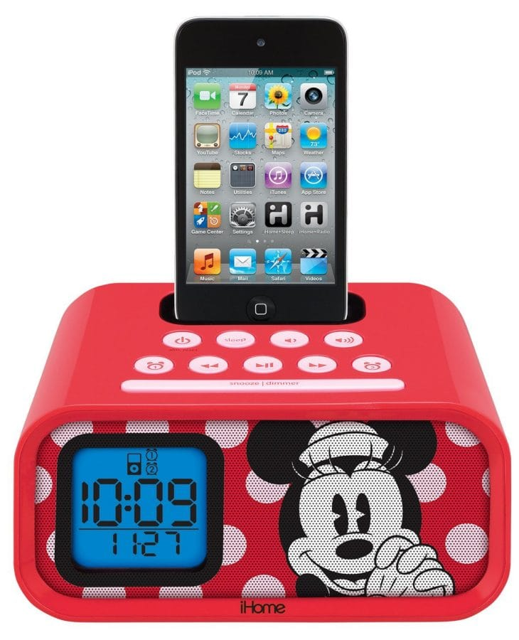 eKids Minnie Mouse Dual Alarm Clock iPod Dock