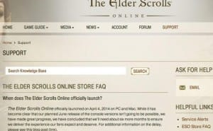 New Elder Scrolls Online PS4, Xbox One release date?