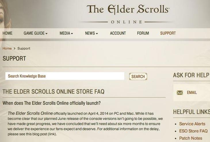 Elders scrolls online xbox one release date in Australia